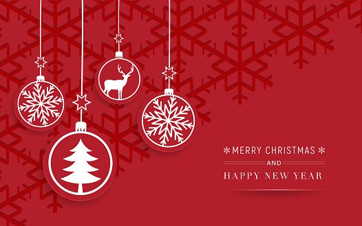 Happy New Year red celebration card