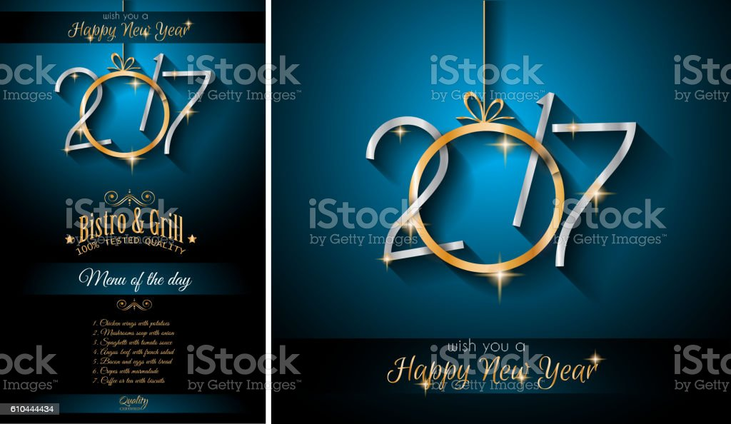 2017 happy new year restaurant menu template background royalty free 2017 happy new year restaurant