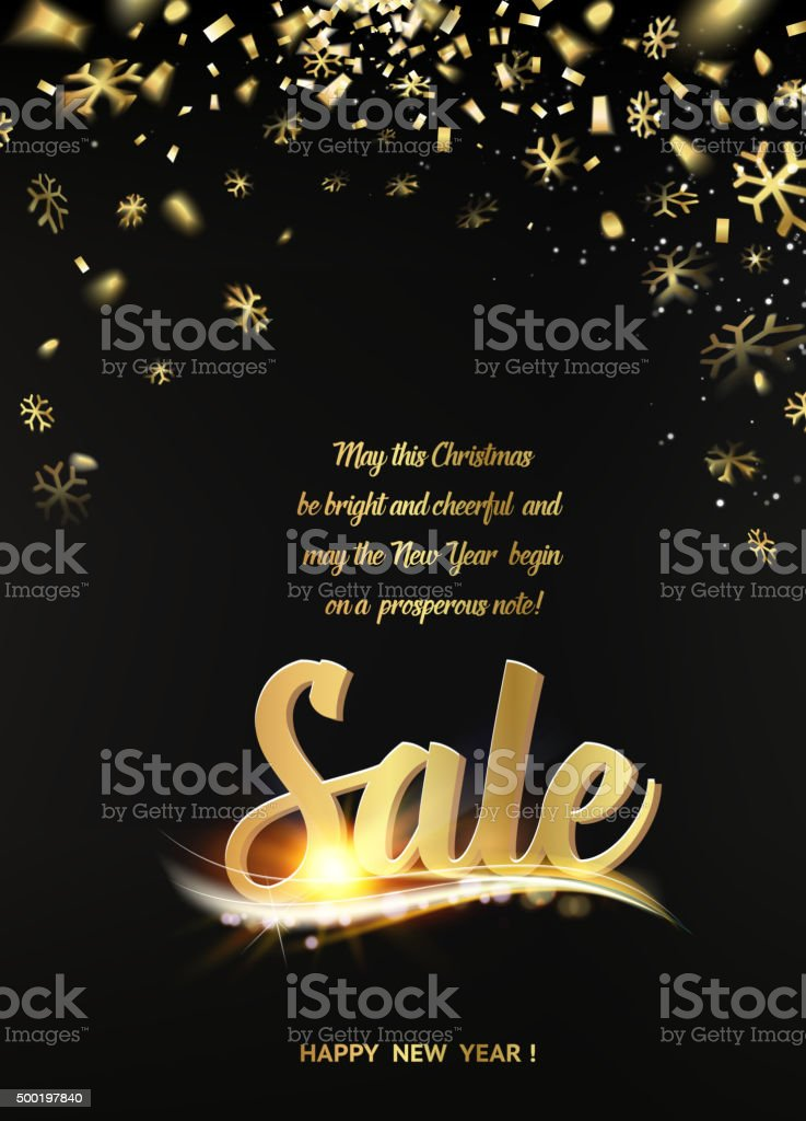 Happy new year sale card vector art illustration