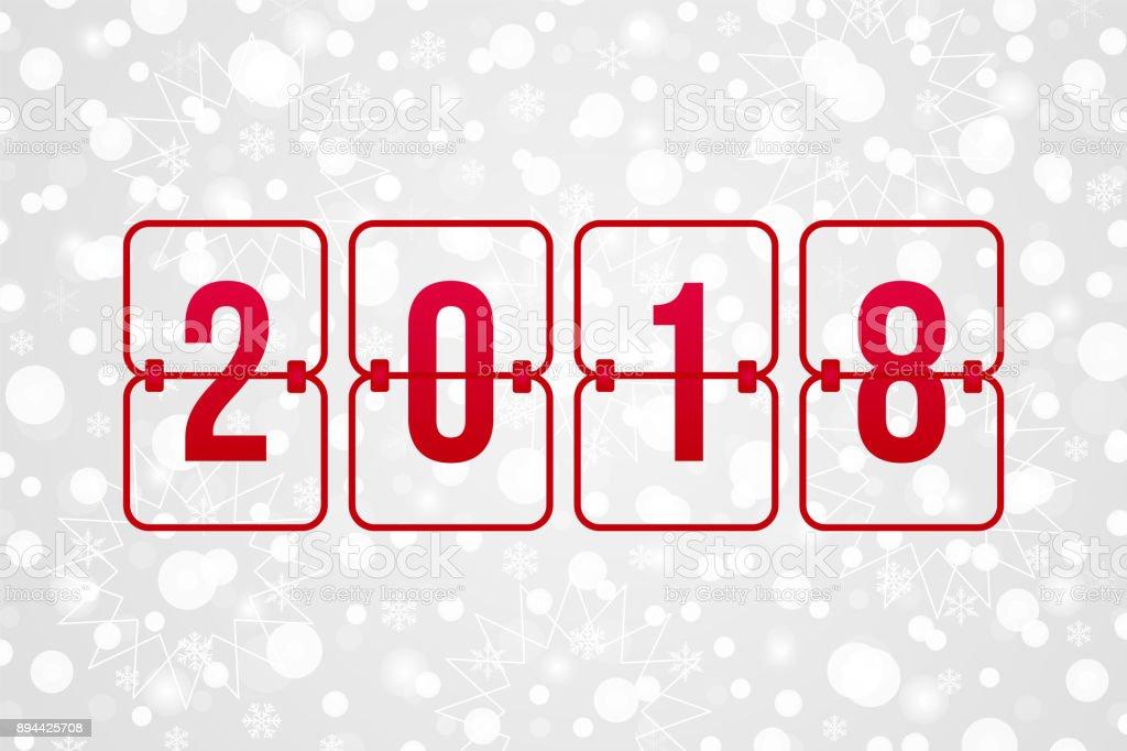 2018 新年あけましておめでとうございますスコアボードはベクトル