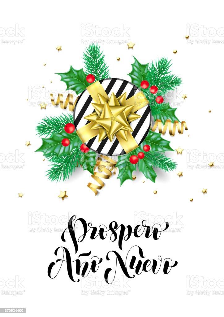 Happy new year spanish prospero ano nuevo calligraphy hand drawn happy new year spanish prospero ano nuevo calligraphy hand drawn text for greeting card background template m4hsunfo