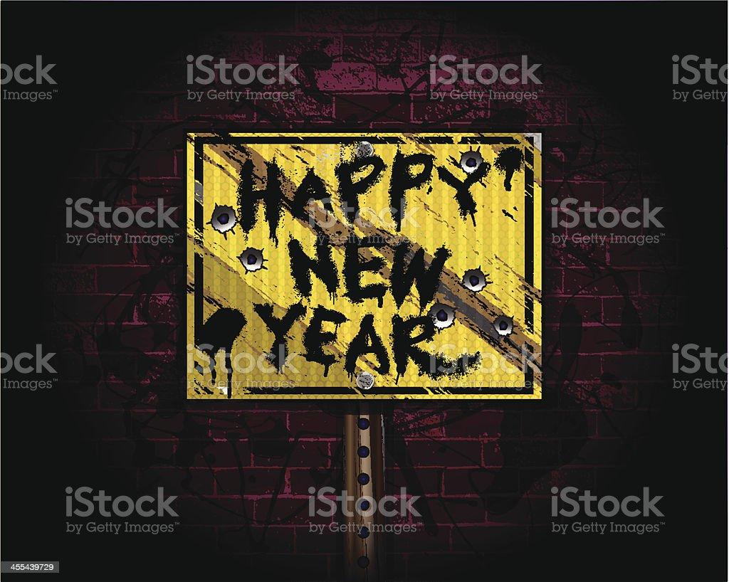 Happy New Year | Urban Grunge Background royalty-free stock vector art