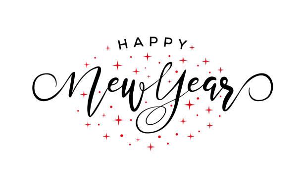 happy new year - happy new year stock illustrations