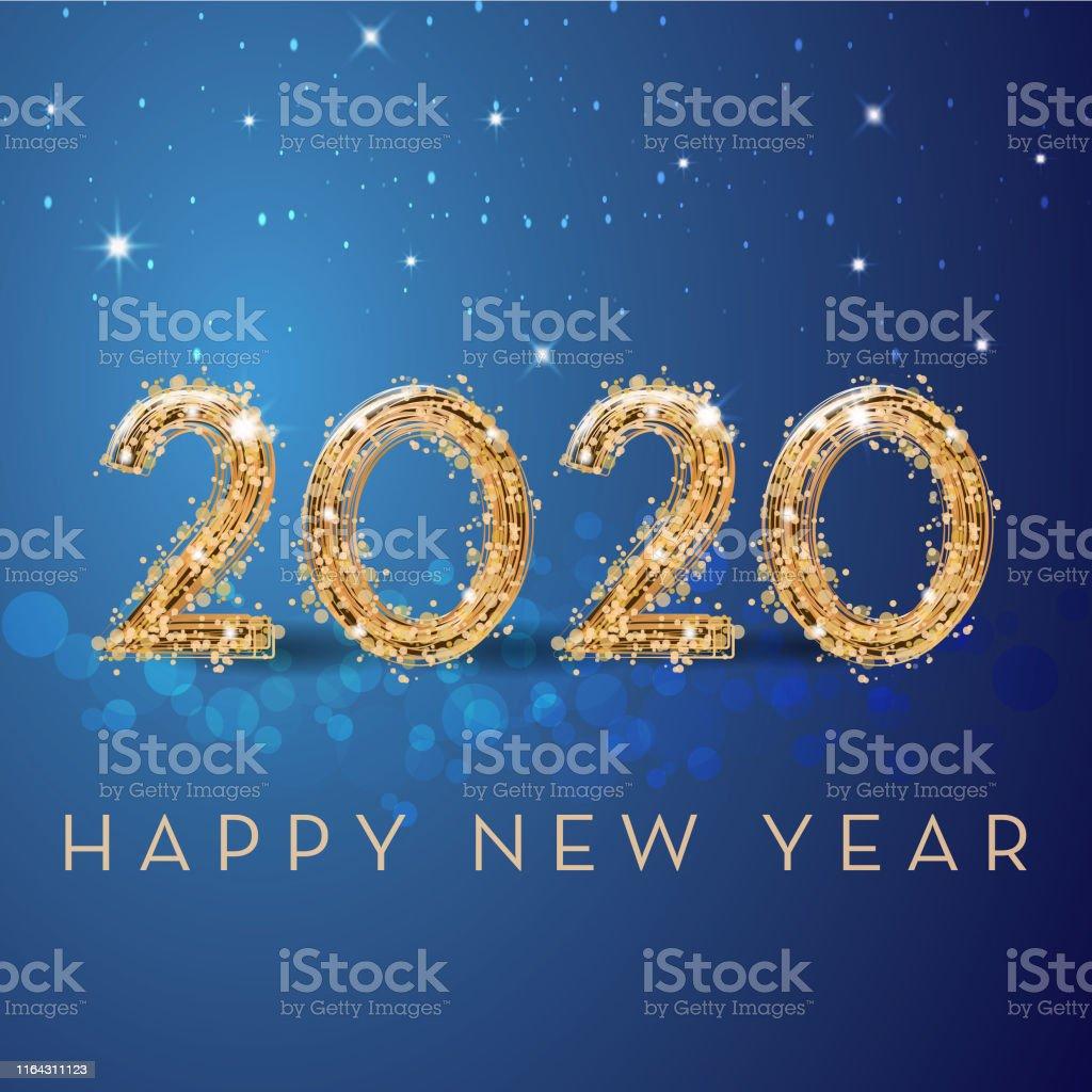 Happy new year - Royalty-free 2019 arte vetorial