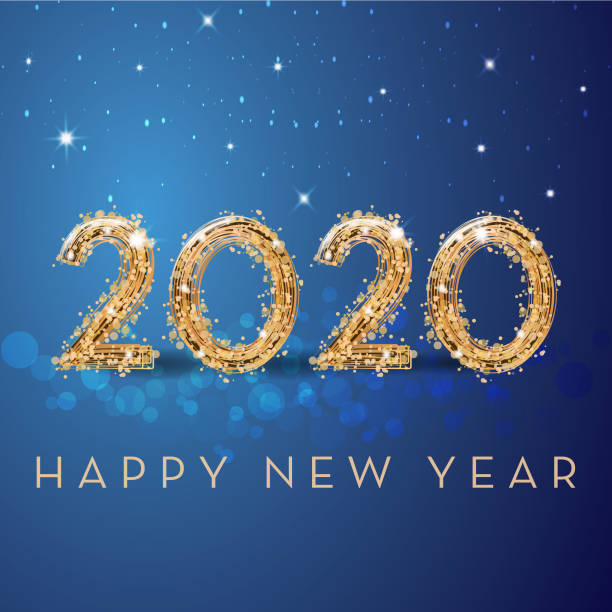 Happy new year Happy new year 2020 2020 stock illustrations