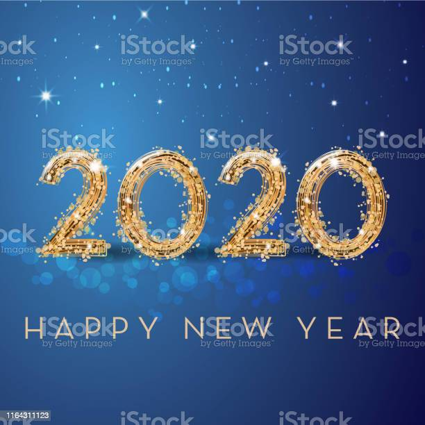Happy New Year - Arte vetorial de stock e mais imagens de 2019