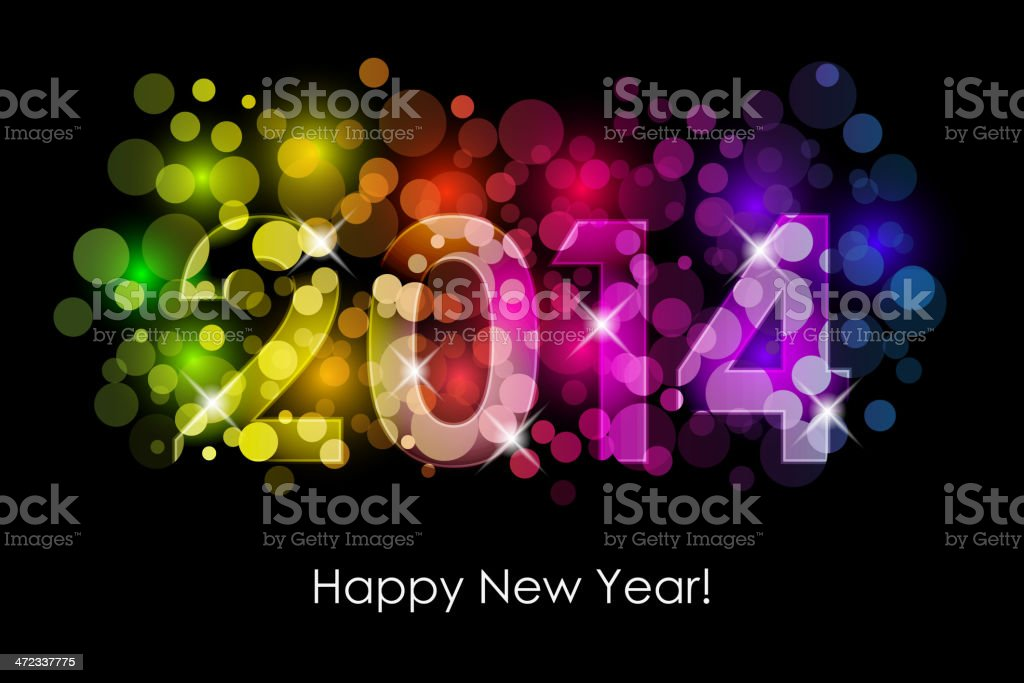 Happy New Year royalty-free happy new year stock vector art & more images of 2014
