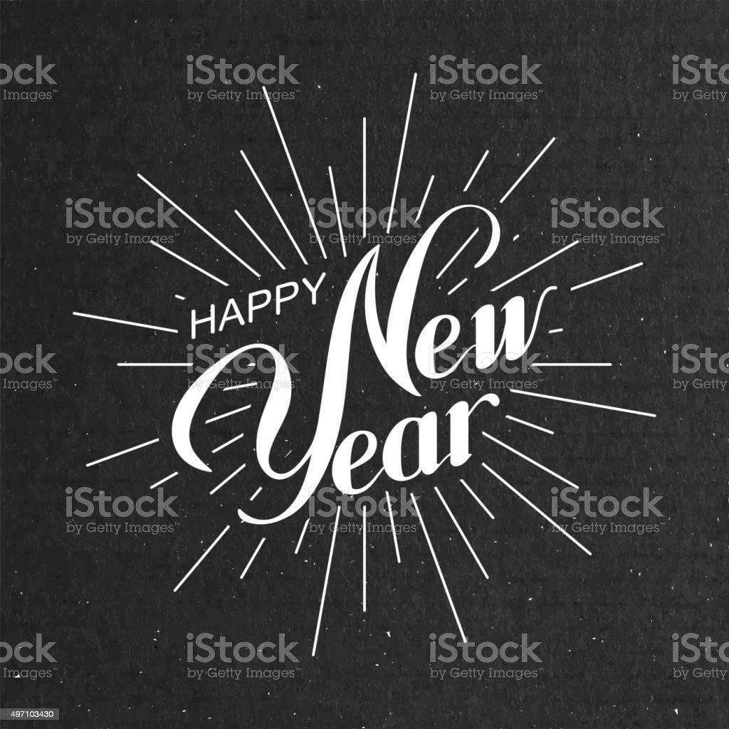 Happy New Year vector art illustration