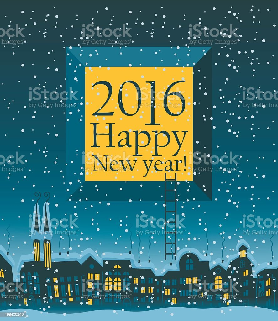 banner sign built structure castle church roof happy new year