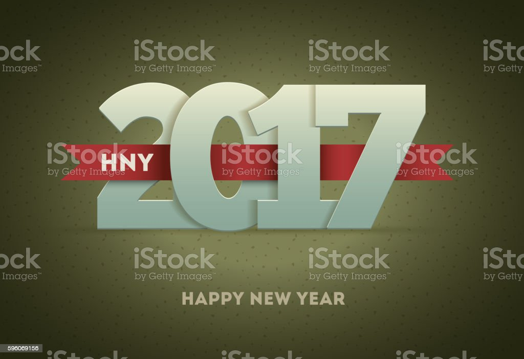 2017 Happy New Year royalty-free 2017 happy new year stock vector art & more images of 2017