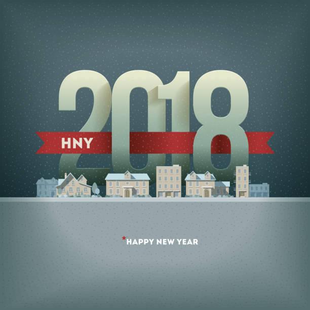 2018 新年あけまして - 自然のカレンダー点のイラスト素材/クリップアート素材/マンガ素材/アイコン素材