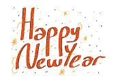 istock Happy New Year Vector Illustration Symbol Design Element Greeting Card Design 1208428456