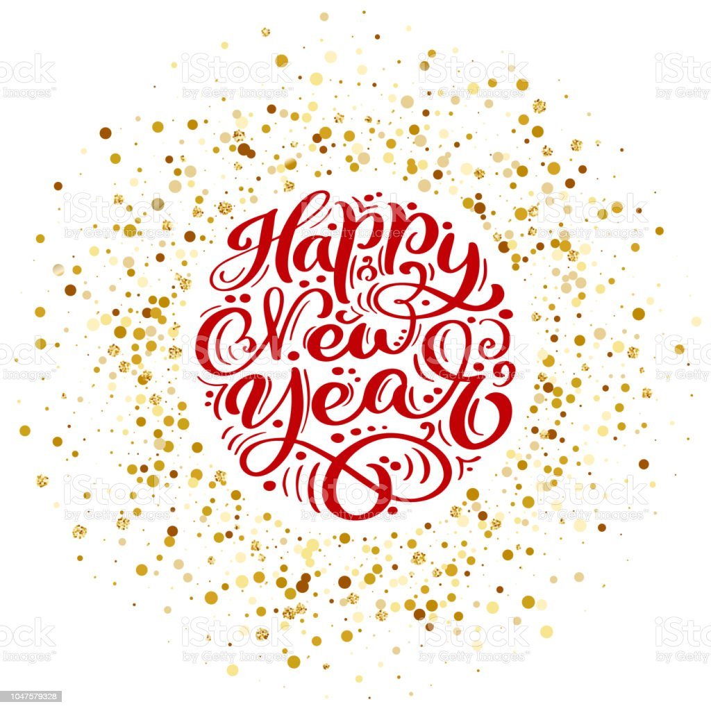 Happy New Year Lettering Design 90