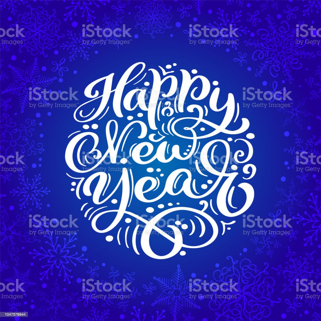 Happy New Year Lettering Design 58