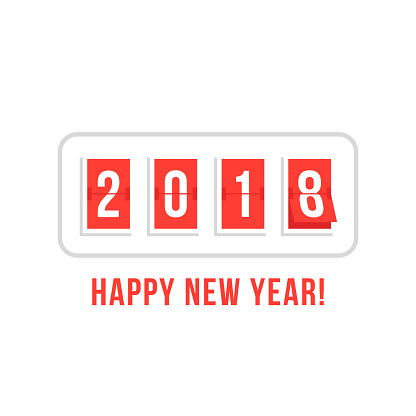 happy new year with 2018 scoreboard