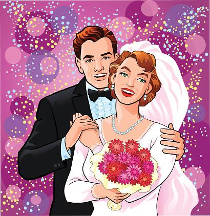 Happy Newly Wedded Couple