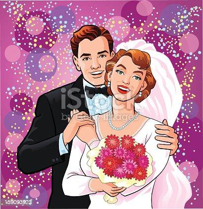 istock Happy Newly Wedded Couple 159093923