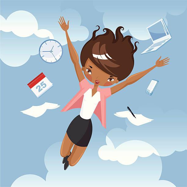 illustrations, cliparts, dessins animés et icônes de heureux employé de bureau. - calendrier de l'avant