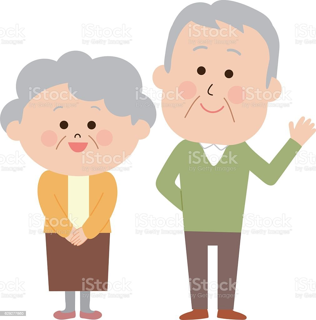 royalty free older couple laughing clip art vector images rh istockphoto com