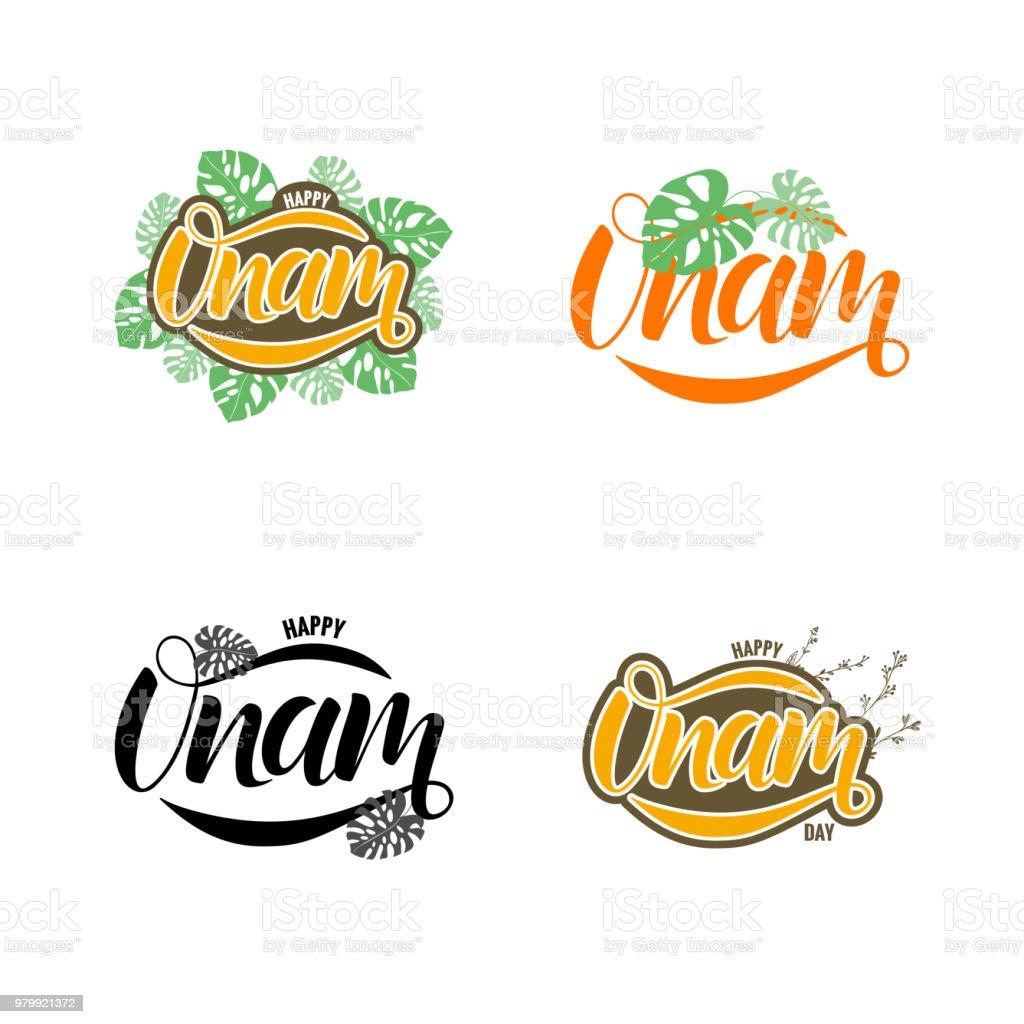 happy onam festival typography lettering royalty free happy onam festival typography lettering stock vector art