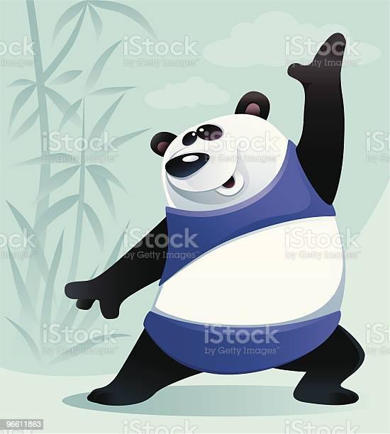 Happy Panda-vektorgrafik och fler bilder på Dag