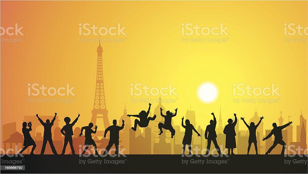 Happy Paris royalty-free happy paris stock vector art & more images of adult