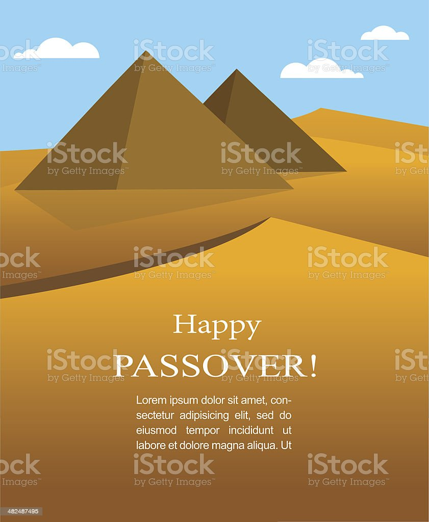 happy Passover- Out of the Jews from Egypt vector art illustration