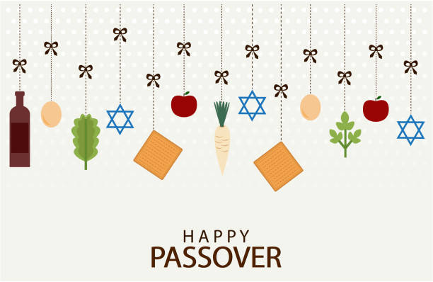 happy passover - passover stock illustrations, clip art, cartoons, & icons