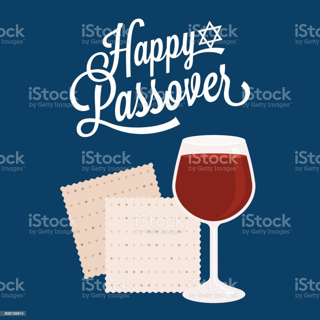 Happy passover with star of david vector art illustration