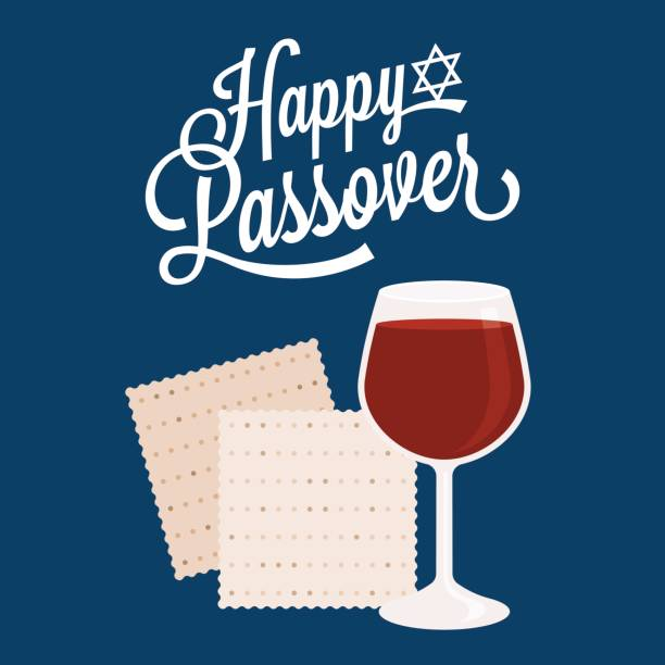 happy passover with star of david - passover stock illustrations, clip art, cartoons, & icons