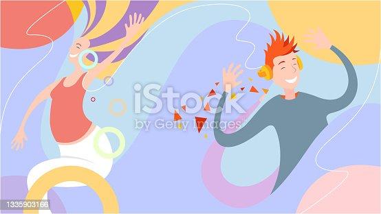istock Happy people dancing 1335903166