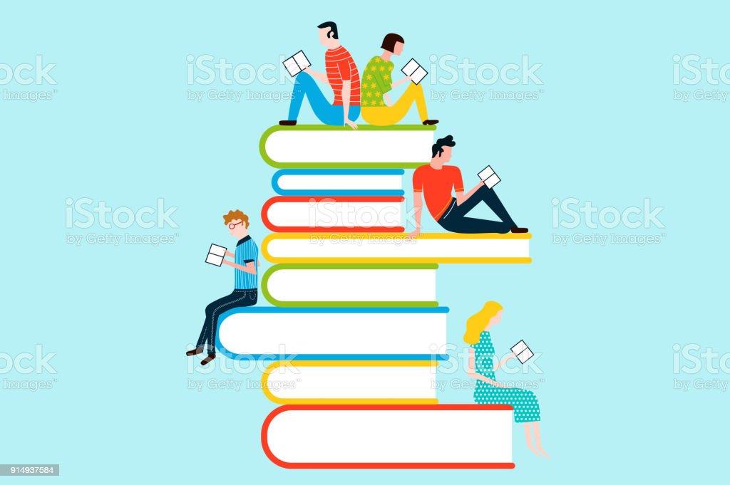 Imagenes De Personas Leyendo Libros
