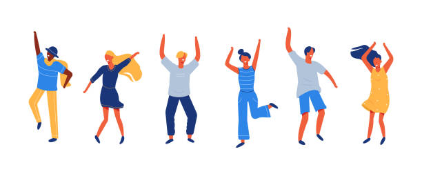 ilustrações, clipart, desenhos animados e ícones de pessoas felizes - dançar