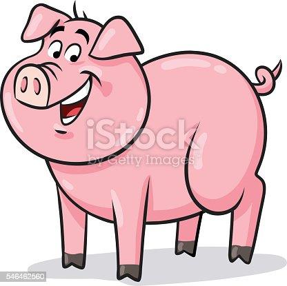 istock Happy Pig 546462560