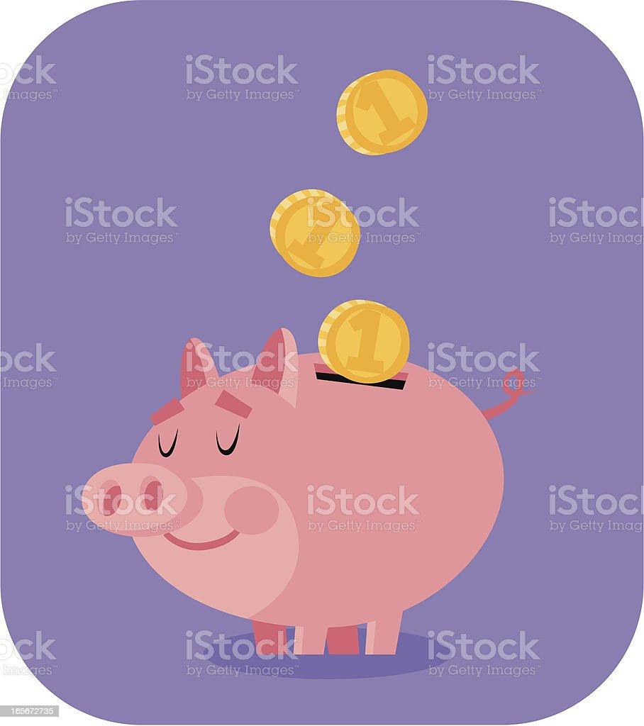 Happy Piggy Bank royalty-free stock vector art