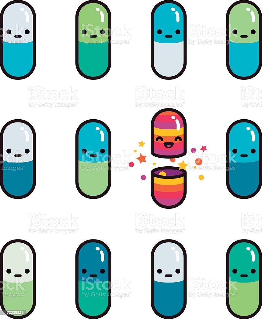 Happy Tablette – Vektorgrafik