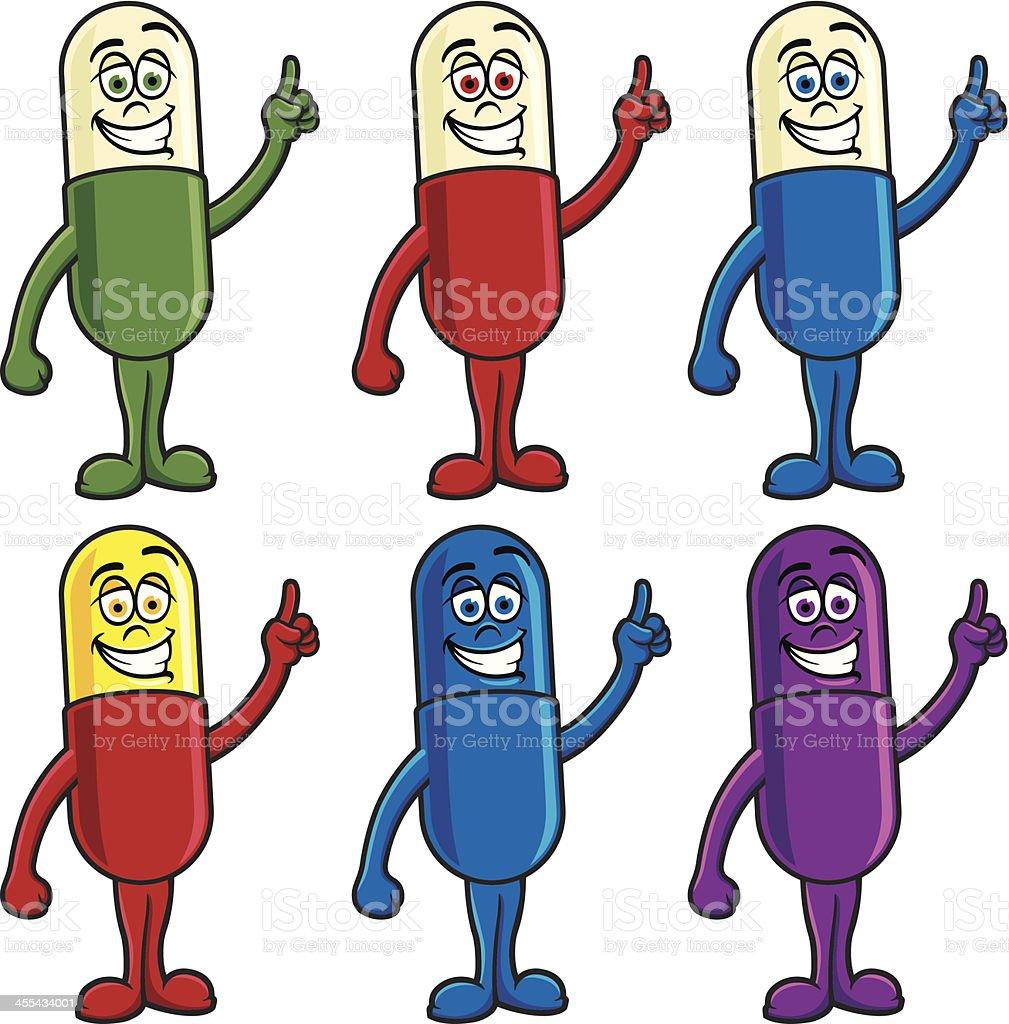 Happy Pills royalty-free stock vector art