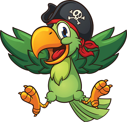 Happy pirate parrot