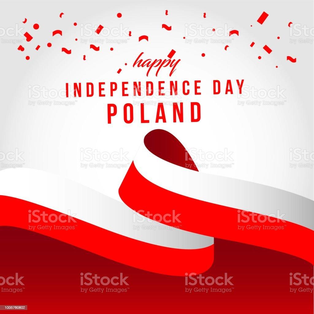 Glücklich Polen unabhängige Tag Vektorgrafik Template Design – Vektorgrafik