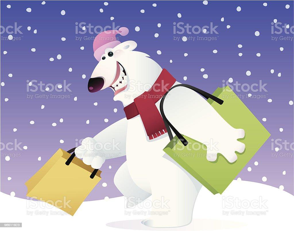 happy polar bear - Royalty-free Beer vectorkunst