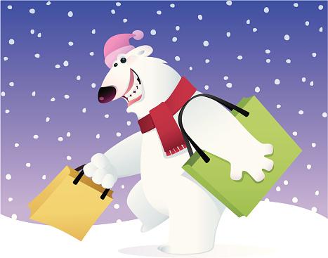 Happy Polar Bear Stockvectorkunst en meer beelden van Beer