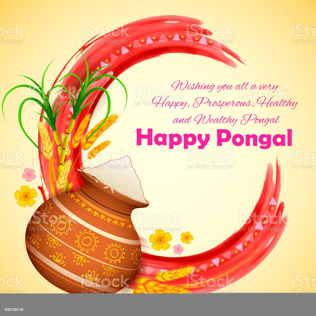 Happy Pongal greeting background
