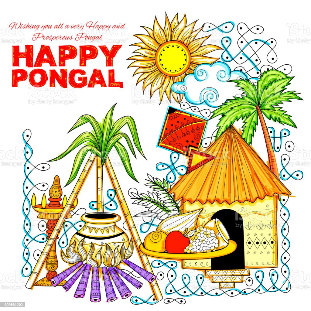 Happy pongal greeting background stock vector art more images of happy pongal greeting background royalty free happy pongal greeting background stock vector art amp m4hsunfo Choice Image