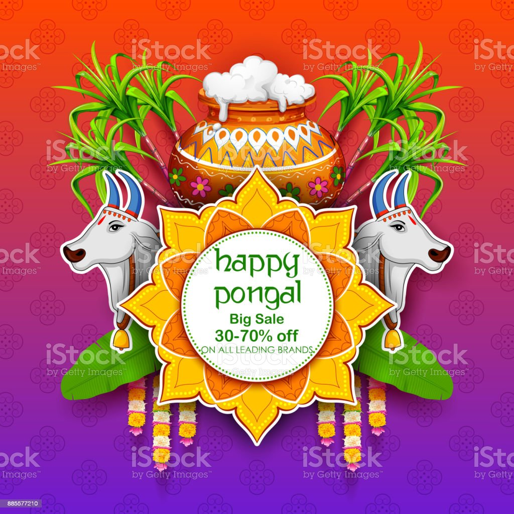 Happy pongal holiday harvest festival of tamil nadu south india sale happy pongal holiday harvest festival of tamil nadu south india sale and advertisement background royalty kristyandbryce Images
