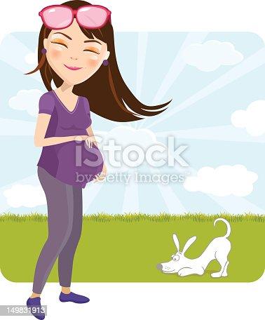 Happy Pregnant Mom