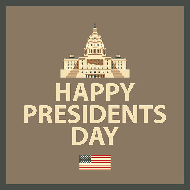 happy president day - presidents day stock illustrations, clip art, cartoons, & icons