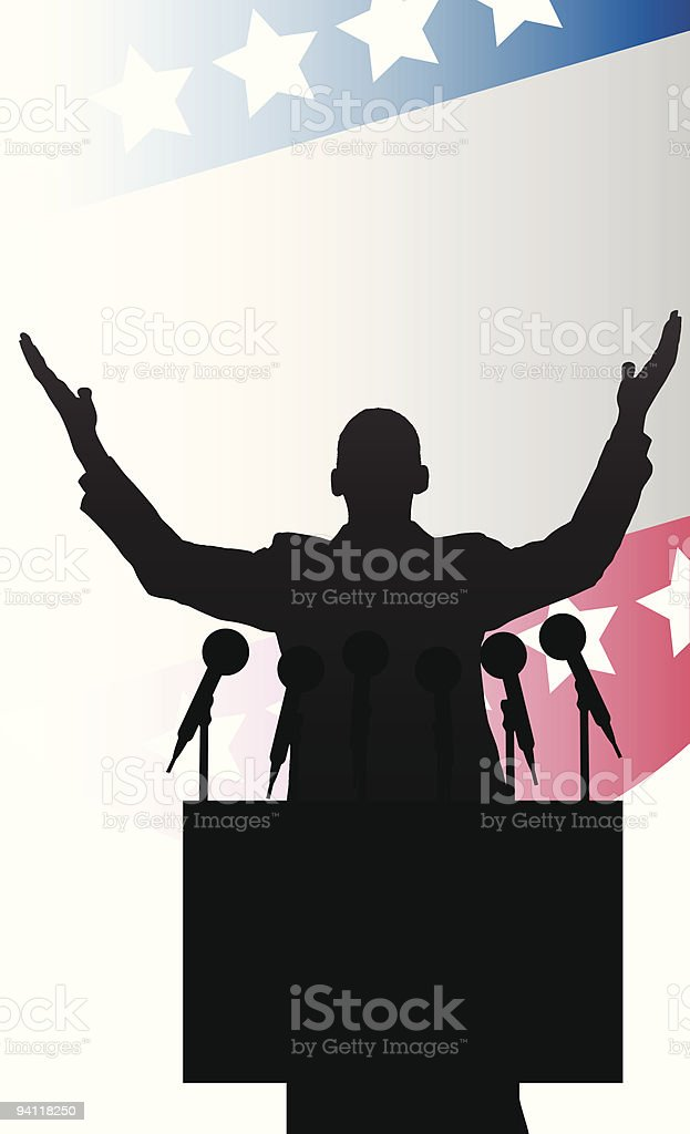 happy  presidential candidate royalty-free stock vector art