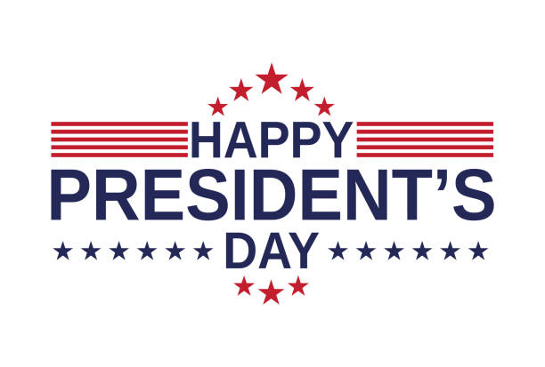 Happy Presidents Day card, background on white background. Vector illustration. Happy Presidents Day card, background on white background. Vector illustration. EPS10 presidential candidate stock illustrations