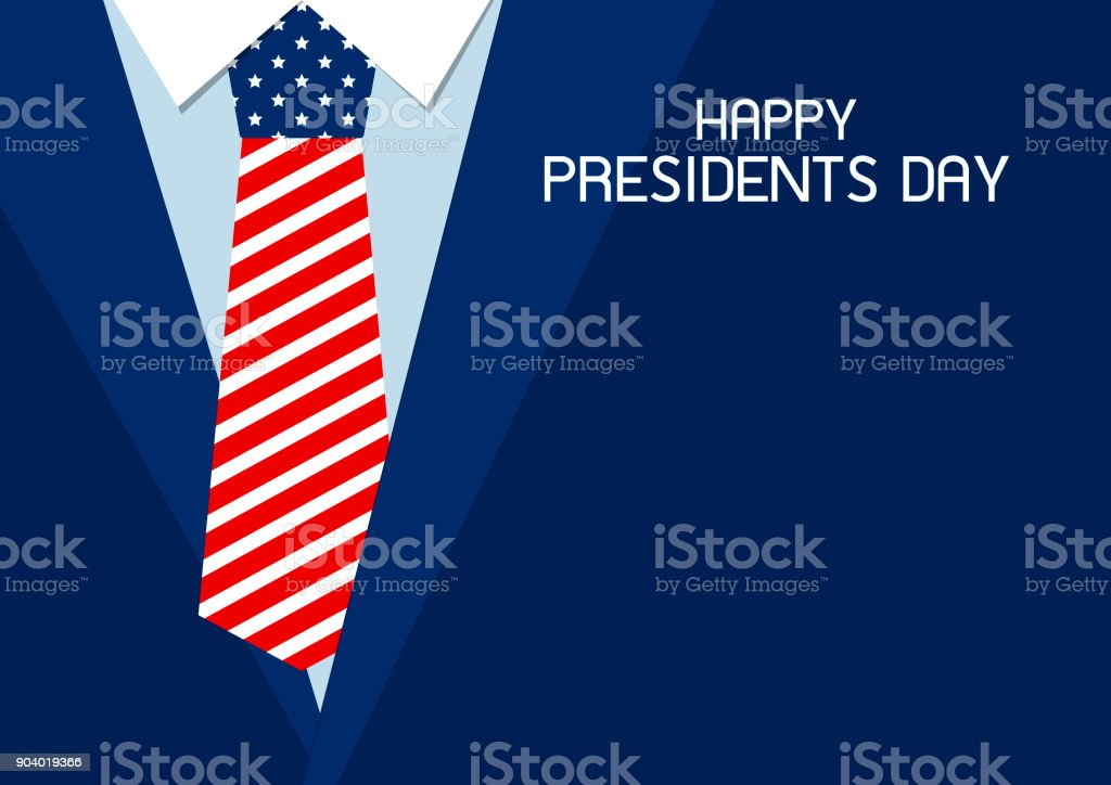 Glücklich Präsidenten Tag Design der USA-Krawatte-Vektor-illustration – Vektorgrafik
