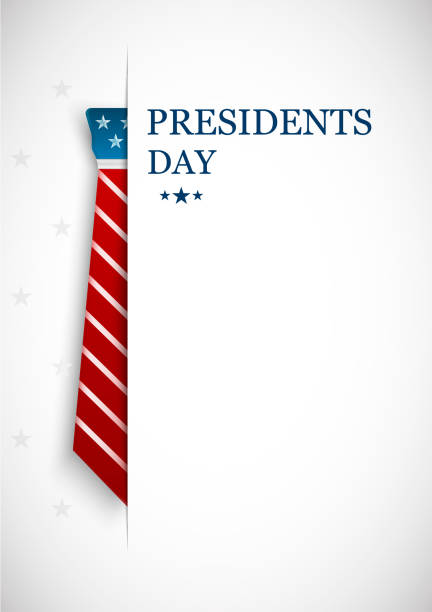 happy presidents day. greeting card, poster and banner. vector illustration - presidents day stock illustrations, clip art, cartoons, & icons